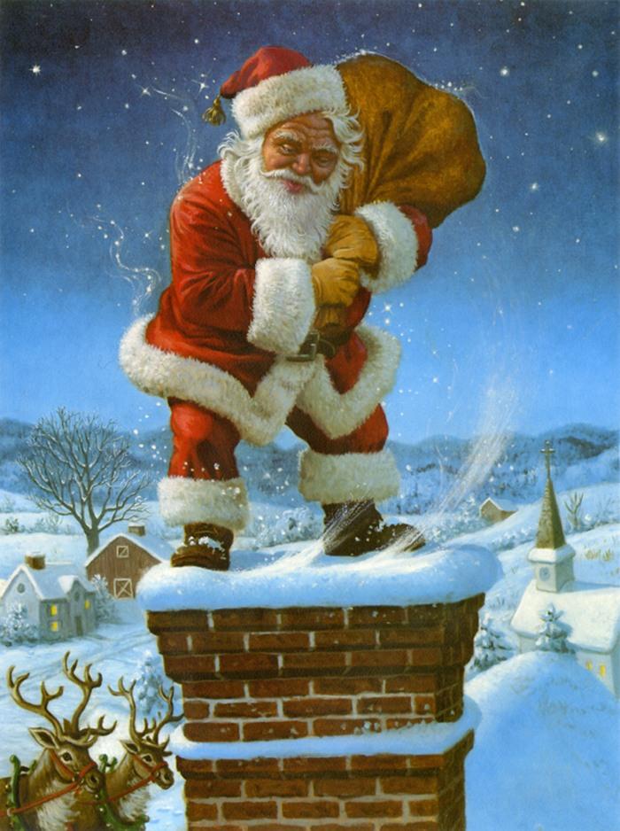 Новогодние открытки с санта клаус, поздравлением мамы